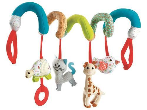 Спираль Vulli с висящим игрушками Жираф Софи (1)
