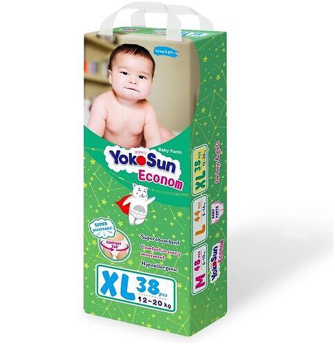 Подгузники-трусики YokoSun Econom XL 38шт 12-20 кг (3)