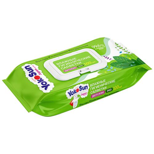 Влажные салфетки YokoSun Eco 100 шт (3)