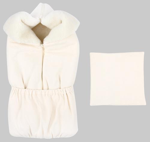 Комплект на прогулку Зайка моя конверт+подушка Уютный сон Молочный (1)